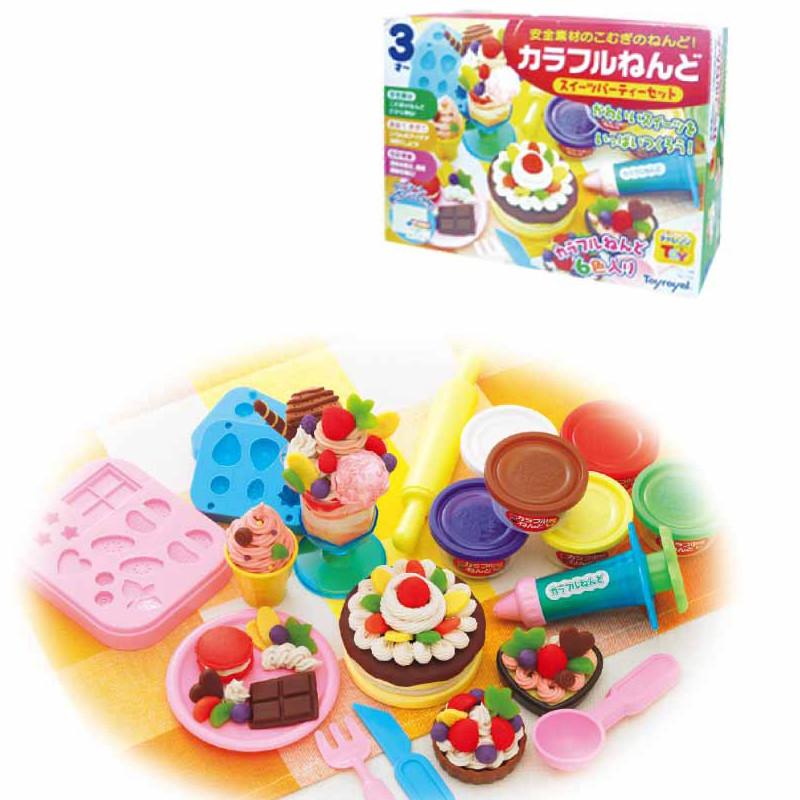 益智玩具 彩泥/手工 皇室彩泥/手工 创意黏土-派对甜点组