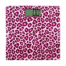 EKS 健康电子人体秤 体重计 豹纹粉 9563