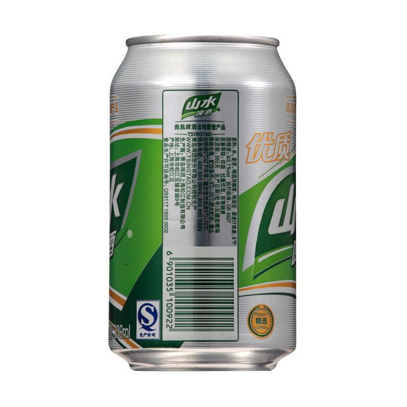 青岛 山水啤酒 330ml*6罐/组