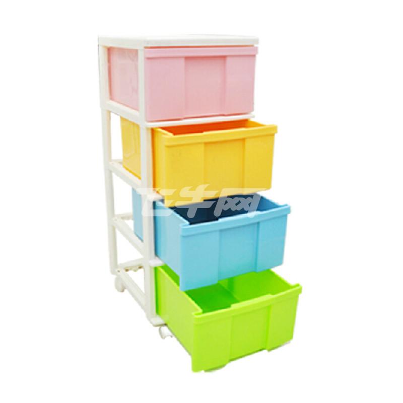 儿童环保树脂整理衣服玩具收纳柜子4d
