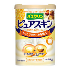 日本进口 巴斯克林(BATHCLIN)滋养美肤香浴盐(蜂王浆乳木果香型)660g