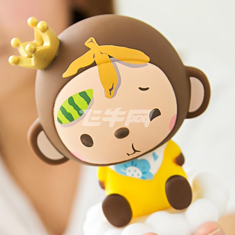 皇冠猴 汽车摆件车用摇头公仔娃娃 可爱对装 升级版 水果款