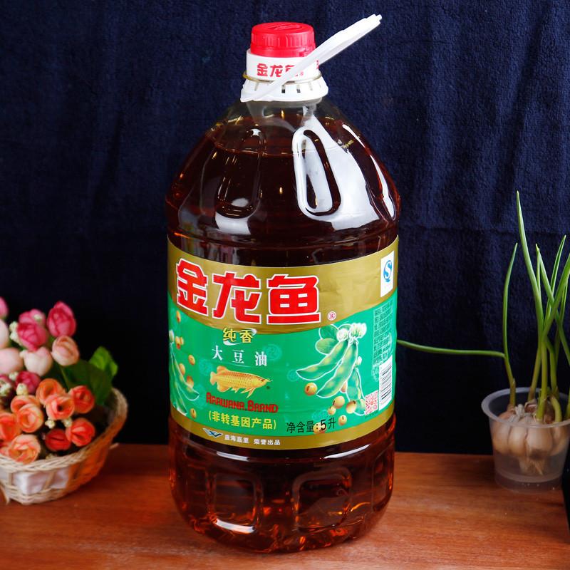 金龙鱼非转基因纯香大豆油5l/桶【价格