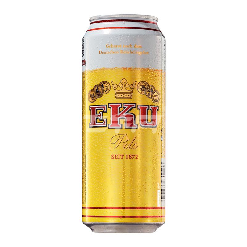 德国进口 怡恺悠/ eku 皮尔森黄啤酒 500ml/罐