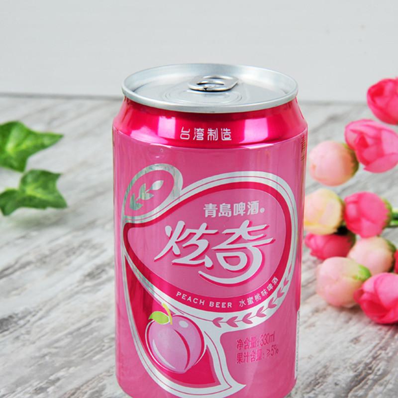 青岛啤酒炫奇水蜜桃味啤酒330ml/听