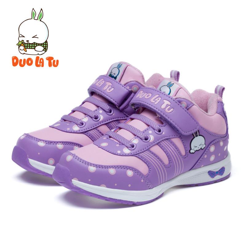 哆啦兔 女童鞋2015冬新款儿童运动鞋韩版潮休闲鞋公主鞋子女孩波鞋 d