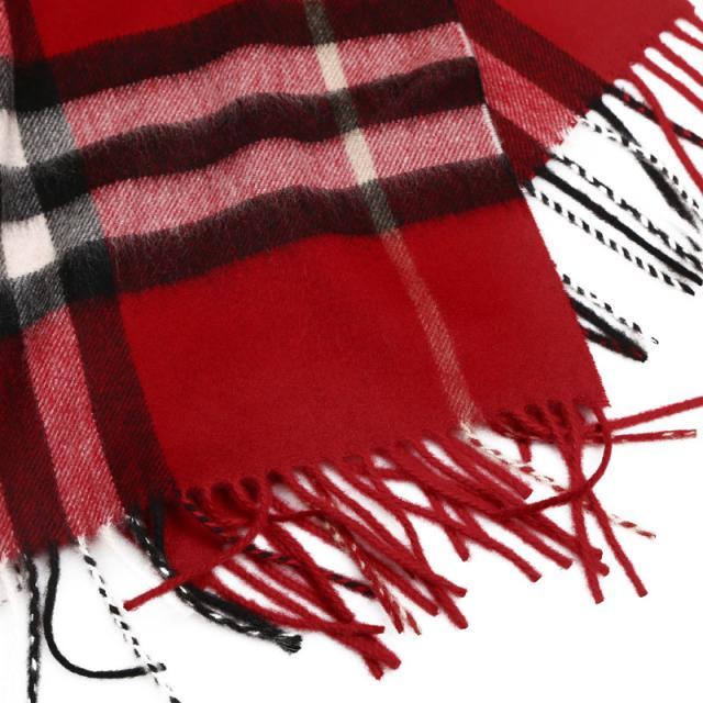 巴宝莉 burberry giant icon 羊绒围巾 168x30 3953534 缤纷红色