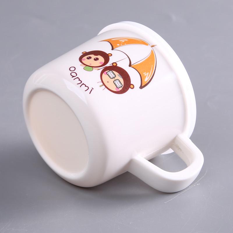 oasso 安全可爱防烫防摔防尘软盖幼儿儿童马克杯水杯