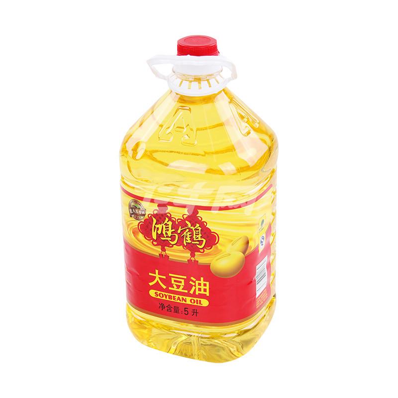 鸿鹤大豆油一级5l价格