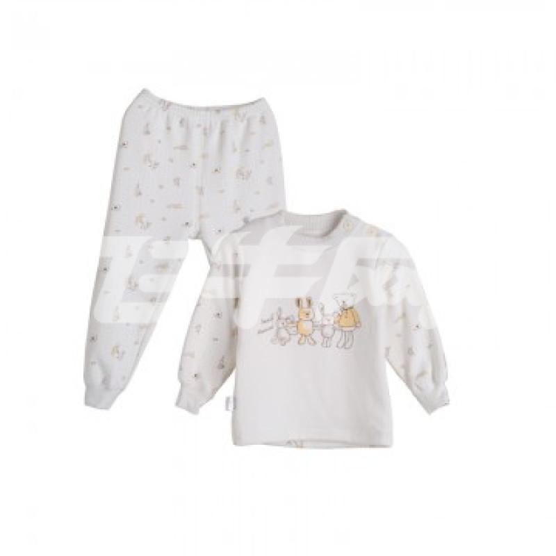 小素材冬季海狸绒儿童保暖内衣加厚 男女宝宝保暖衣套装加绒 hu 100