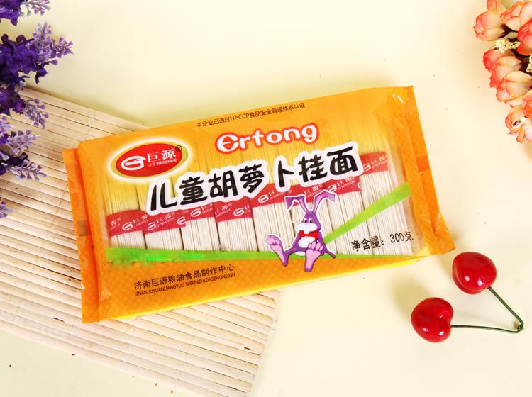 胡萝卜面300g/袋 品牌:巨源 种类:其他 形状:细直条 原料:其他 包装