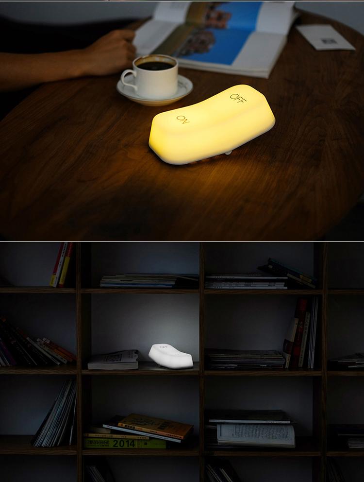 muid 重力感应灯 创意节能开关灯 卧室床头桌面可充电