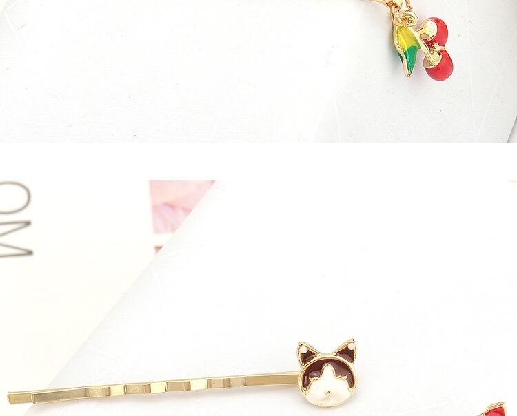 伊思雅 韩版时尚百搭小可爱系列发夹一字夹发饰礼品 狐狸