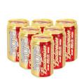 百威纯生啤酒 330ml*6罐/组