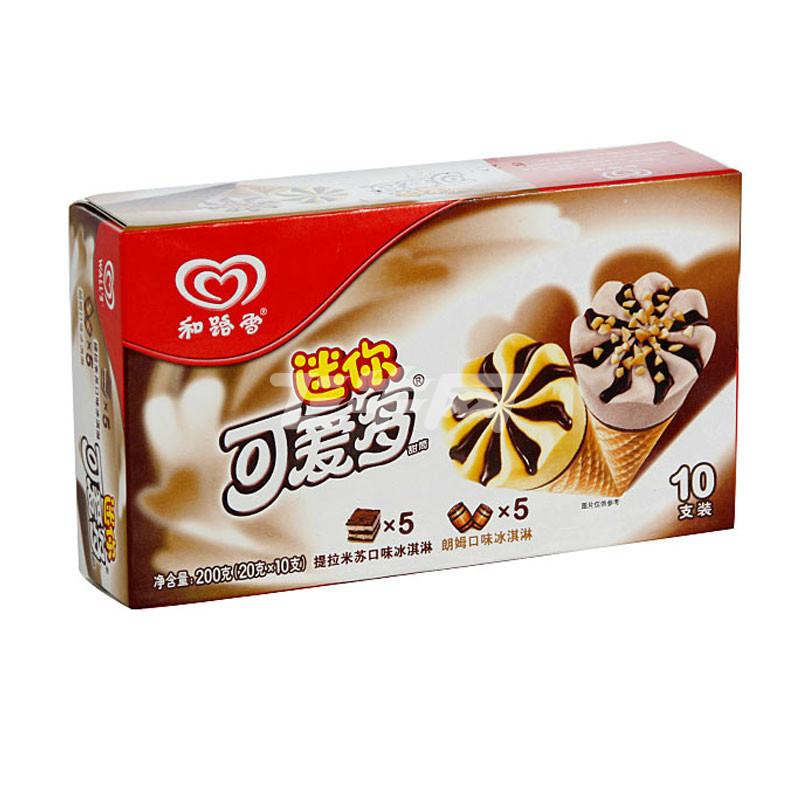 迷你可爱多 甜筒提拉米苏&朗姆口味冰淇淋 200g/盒